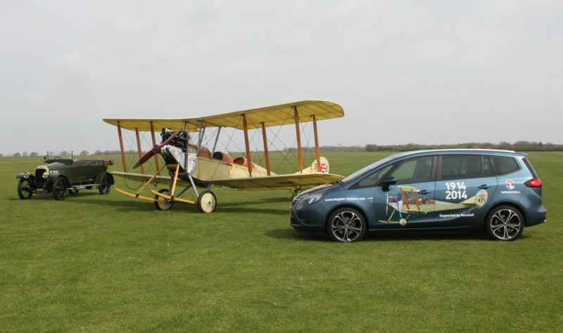 Vauxhall to support historic aircraft as part of WW1