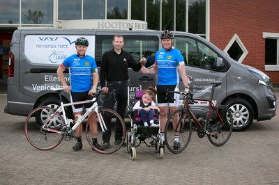 Vauxhall supports 1,300-mile charity ride in aid of local girl