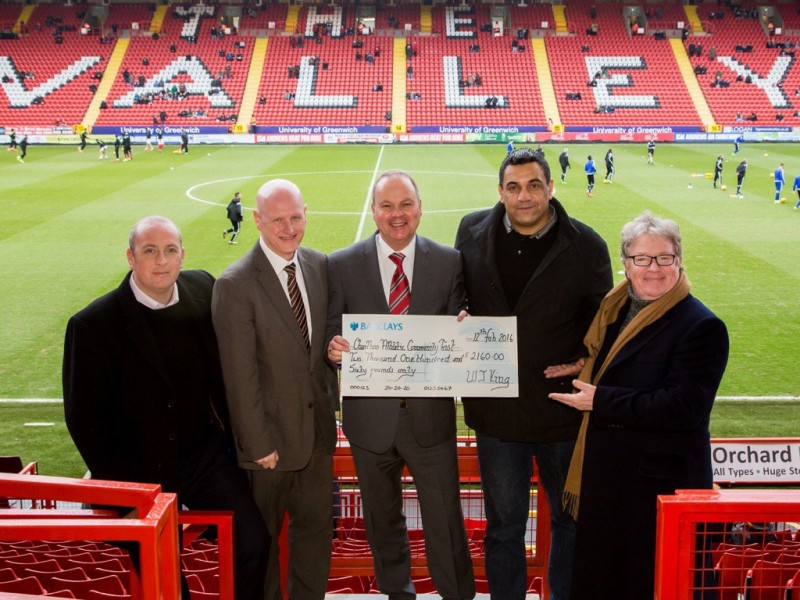 WJ King boost for the Charlton Athletic Community Trust Disability Programme