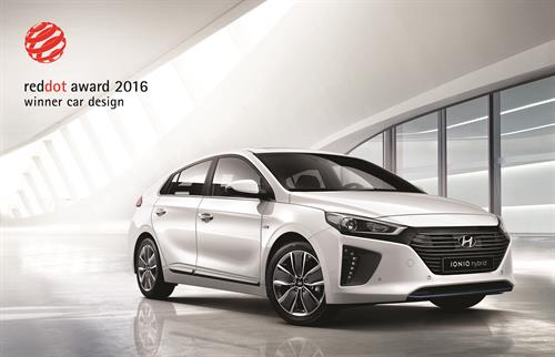 HYUNDAI IONIQ WINS PRESTIGIOUS 2016 RED DOT DESIGN AWARD