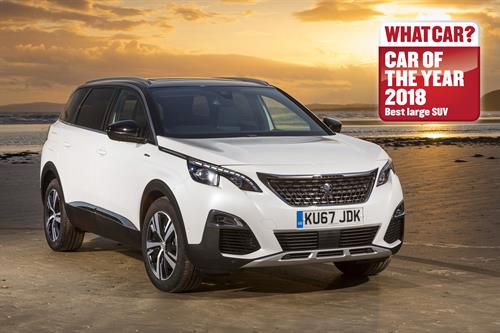 ALL-NEW PEUGEOT 5008 SUV SCOOPS THE WHAT CAR? BEST LARGE SUV AWARD