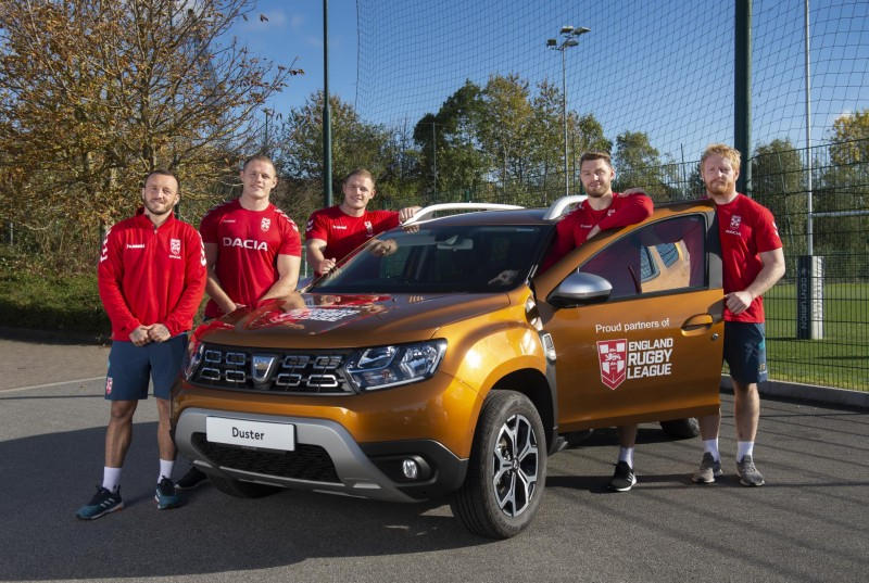 ENGLAND RUGBY LEAGUE PLAYERS GEAR UP FOR NEW ZEALAND SERIES IN ALL-NEW DACIA DUSTERS