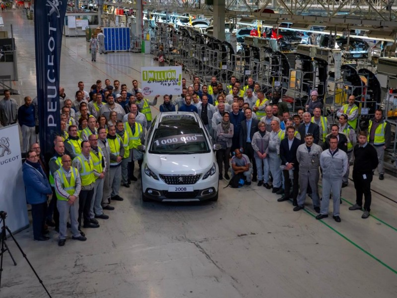 PEUGEOT 2008 SUV REACHES MILESTONE WITH ONE-MILLIONTH MODEL PRODUCED