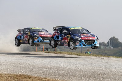 Peugeot to fight for teams' title in rallycross finale